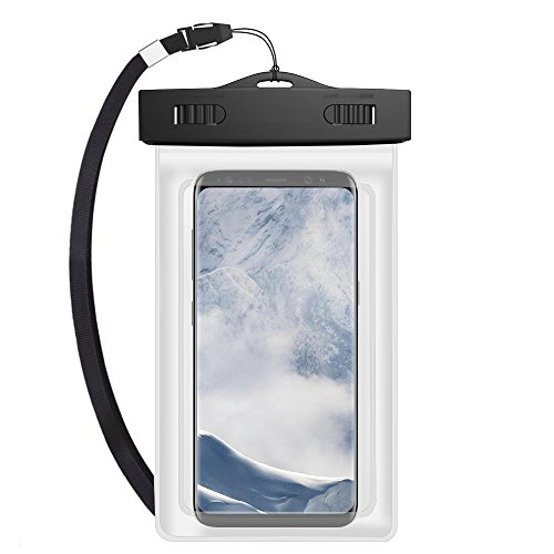 550 Waterproof Case - Universal Waterproof Case Dry Bag Pouch w/ Armband & Lanyard for Samsung Galaxy Note 8 / S8 Active / S8+ / S8 / Note FE / Nokia 5 6 8 / HTC One X10 / U11 / U Ultra / Desire 550 555 (White)