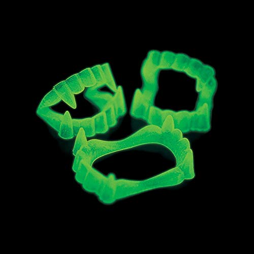 Fun Express - Glow-in-the-Dark Vampire Fangs, (1-Pack of -