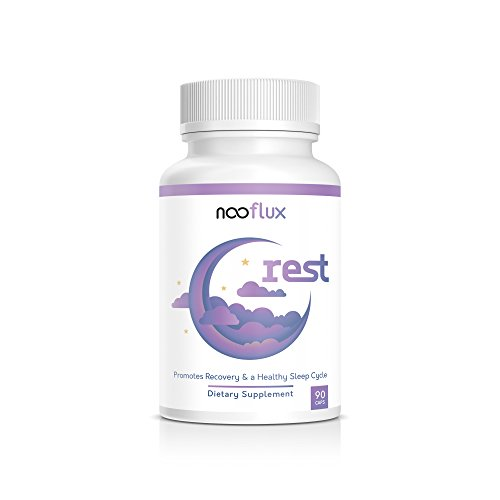 Natural Sleep Aid - Safe, Effective, Non Drowsy Sleep Formula - ZMA Valerian Root Melatonin - Helps with Recovery & Relaxation - Rest by Nooflux