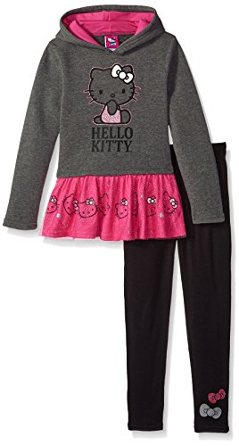 Hello Kitty Baby Girls' 2 Piece Long Sleeve and Legging Set, Gray3, 24M