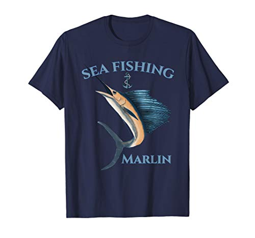 Sea Fishing Marlin Swordfish Nautical T-Shirt