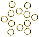 12 14K Gold Filled 6mm Round Split Rings Wire Charm