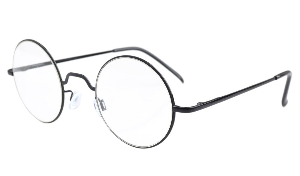 Eyekepper Cerniere a molla occhiali da lettura rotondo Nero +2.5