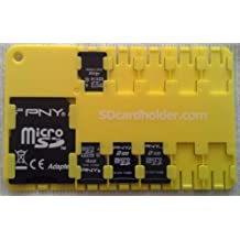 Micro Sd Card Holder 3-Pack (YELLOW)