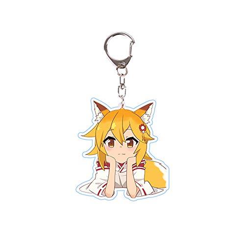 futurecos Sewayaki Kitsune no Senko San Acrylic Key Chain Anime Keychain Figure for Meddlesome Kitsune Senko San Keyring Key Buckle Key Pendant Acrylic Key Charms