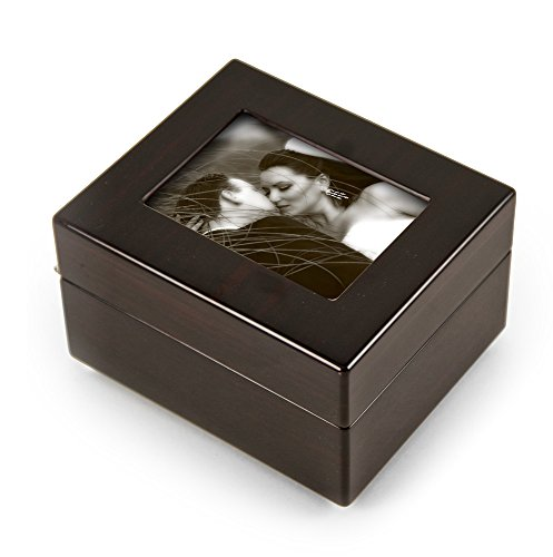 Sleek and Modern 30 Note x Photo Frame Musical Jewelry Box - Many Songs Available - Magic Flute