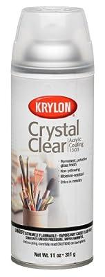 Krylon 1303 Acrylic Coating Crystal Clear Spray Paint 11 Ounce