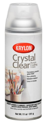 Krylon K01303007 Acrylic Spray Paint Crystal Clear in 11-Ounce - Spray Protective Inkjet