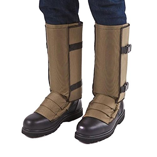 Crackshot Men's Snake Bite Proof Guardz Gaiters, Khaki Tan, Small by Crack Shot