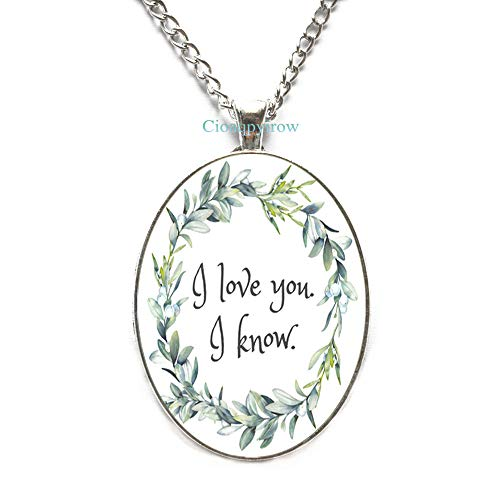 Cioaqpyirow i Love You,i Know Necklace, Love,Best Friends, Bridesmaid Jewelry,HO0E296]()