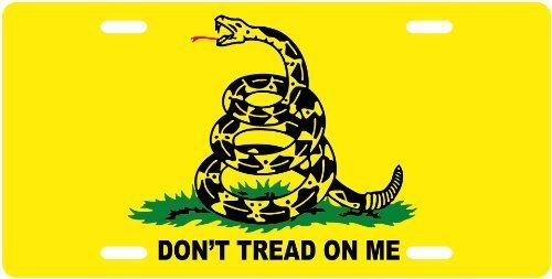 (Don't Tread On Me - License Plate from Amazon)