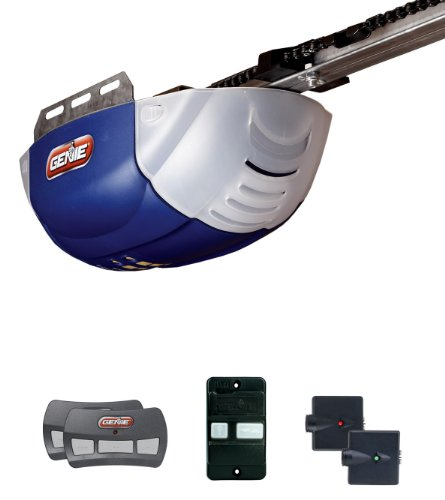 Genie 2022-TC ChainLift 800 1/2+ DC Chain Garage Door Opener with 2 3-Button Remotes Wall Console and Safe-T-Beams