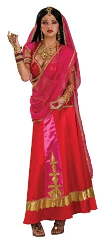 Bollywood Halloween Costume (Rubie's Costume Bollywood Beauty Costume, Red/Pink/Gold,)