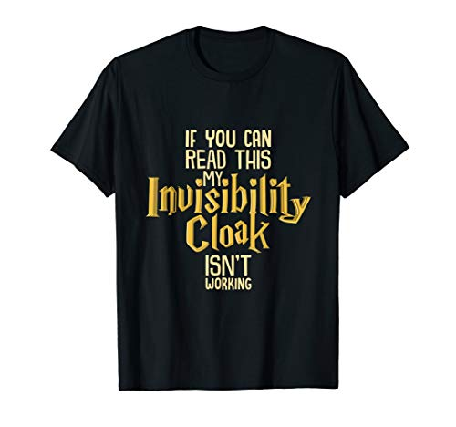 - Invisibility Cloak Shirt Geek Book Movie Lover TShirt Kids