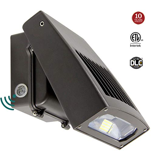 30W LED Wall Pack light with Dusk-to-Dawn Photocell, 0-90° Adjustable Head Waterproof Outdoor Lighting Fixture, 150-250W HPS/HID Replacement 5000K 3300lm ETL DLC Listed 10-year Warranty by Kadision by kadision
