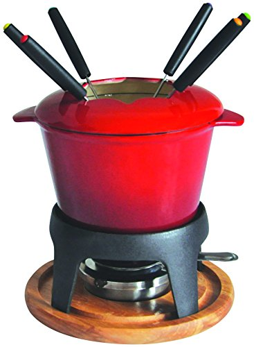 Baumalu - 385050 - Cast iron fondueset 6 persons red color