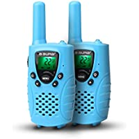 Portable Kids Walkie Talkies (Up to 3.7 Miles) Rechargeable Two-Way Radio Transceiver For Children, 1 Pair, Blue