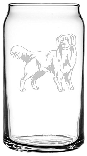 Nova Scotia Duck Tolling Retriever (Toller) Dog Themed Etched All Purpose 16oz Libbey Can - Etched Glass Duck