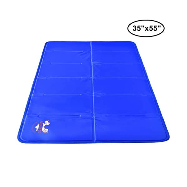 Pet Dog Self Cooling Mat Pad for Kennels, Crates and Beds 35×55