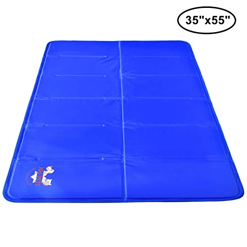 Pet Dog Self Cooling Mat Pad for Kennels, Crates and Beds (Best Cooling Dogs)