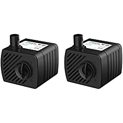 Songjoy Submersible Water Pump 52GPH For Aquarium Fountain Fish Tank Water Pump Hydroponics with 4.9ft Power Cord Contains 2 pumps