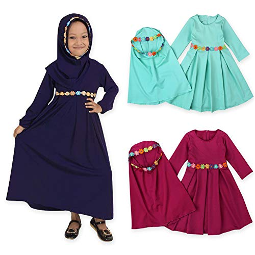 EITC Children Girls Muslim Dress Long Sleeves Skit, used for sale  Delivered anywhere in USA