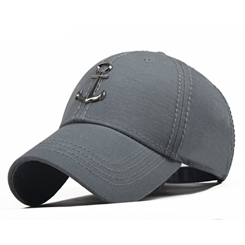 CACUSS Mens Sailing Style Cotton Structured Baseball Cap Adjustable Buckle Closure Sports Golf Hat