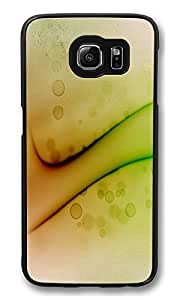 S6 Case, Ripple Painted Macro Ultra Fit Black Bumper Shockproof Case For Galaxy S6 Customizable Hard PC Samsung Galaxy S6