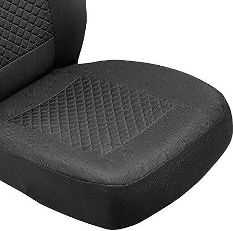 Couleur Premium Noir Gris Effet 3D Zakschneider Housses DE SI/ÈGE pour Corsa Housses Avant