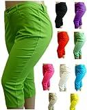 NEW 1826 Twill CAPRI Pants High Waist Womens Plus Size 98% Cotton 2% Spandex (686)