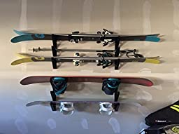 Ski Storage Rack | Horizontal Wall Rack | StoreYourBoard