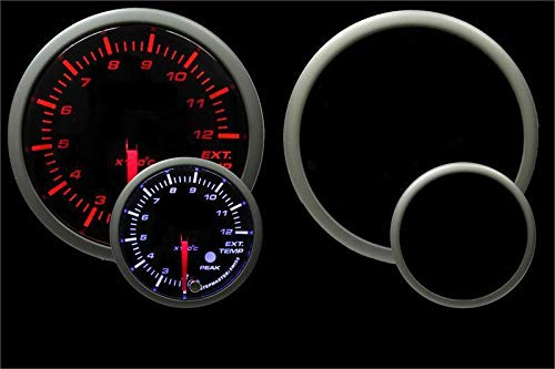 Prosport Universal Metric 52mm EGT Exhaust Gas Temperature Gauge 200-2200C by Prosport Performance