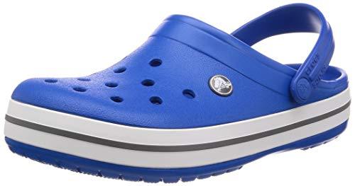 (Crocs Crocband Clog, Bright Cobalt/Charcoal, 8 US Women / 6 US Men M US)