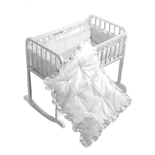 "Babykidsbargains Simplicity Cradle Bedding, White, 18"" x 36"""