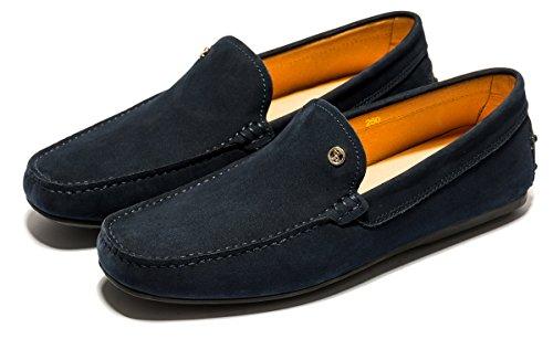 men Loafer Blue Slip Casual Men for Leather Shoes OPP on xBqTA8