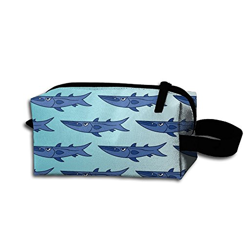 Cartoon Barracuda Pattern-01 Portable Storage Pouch Bag Handbag