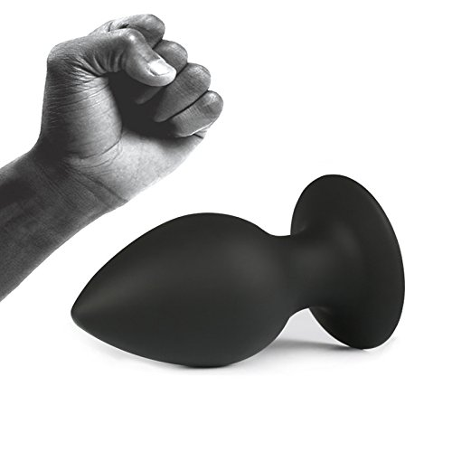 Hetam Anal Sex Toy black silicone anal plug gay sex toys Small ,Middle, Larger with suction cup butt plug adult sex toys for men(L)