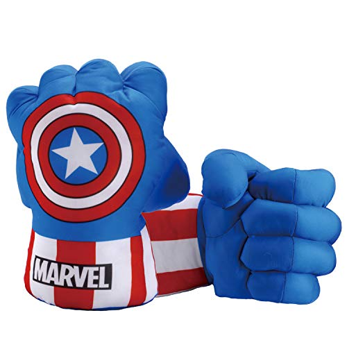 Toyart Captain America Gloves, Matching Fists to Captain America's Costume, Shield, Captain America Toy, 1 Pair