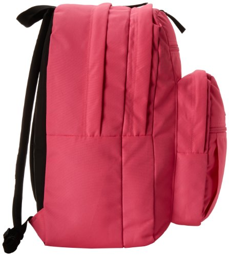 """JanSport Big Student Backpack 3 Functional lightweight backpack featuring double main compartments, mesh side pocket, front pocket with organizer, padded back, and ergonomic S-curved straps Shoulder strap length: 34.5"""" Handle has a drop of 3.25"""" and a length of 8.5"""""""