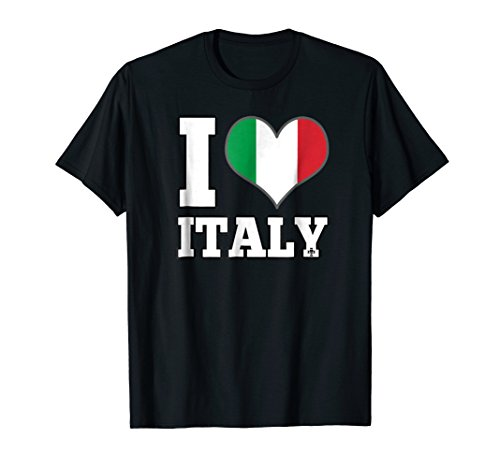 I Love Italy T-Shirt Heart Flag Tee