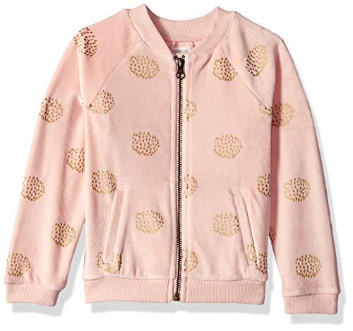 Velour Long Jacket Sleeve - Gymboree Girls' Big Long Sleeve Zip Up Jacket, Cherry Blossom Pink Velour, 2T