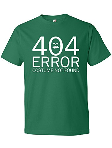 Irish Dancing Costumes For Men (Dancing Participle Men's 404 Error Costume Not Found Scoop Neck T-Shirt, Small, Kelly Green)