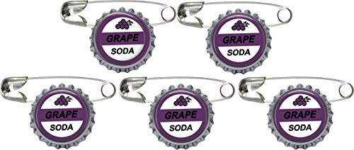 Crafting Mania LLC. 5 Grape Soda Bottle Cap