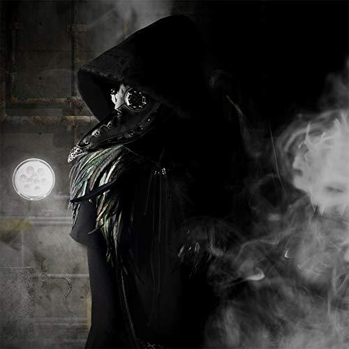 steelsir Steampunk Plague Doctor mask Long Nose Beak Cosplay Halloween Mask