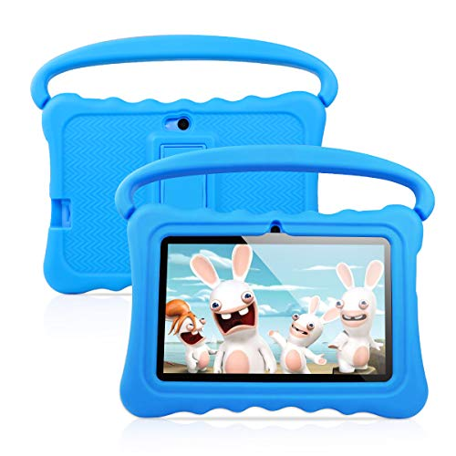 7 inch Kids Tablet PC Android 8.1 OS Learning and Entertaining Tablets for Kids 1GB RAM 16 GB Quad-Core 1.3Hz WiFi Tablet with Soft Shock&Kid-Proof Case (blue2)