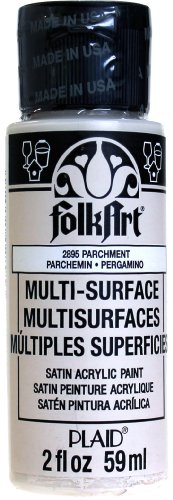 FolkArt Multi-Surface Paint in Assorted Colors (2 oz), 2895, Parchment