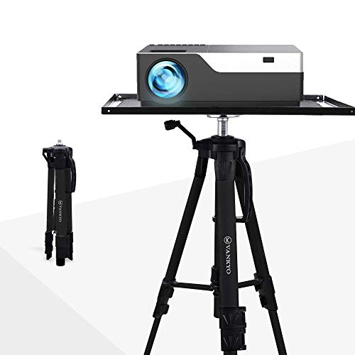VANKYO Aluminum Tripod Projector Stand, Adjustable Laptop Stand, Multi-Function Stand, Computer Stand Adjustable Height 17