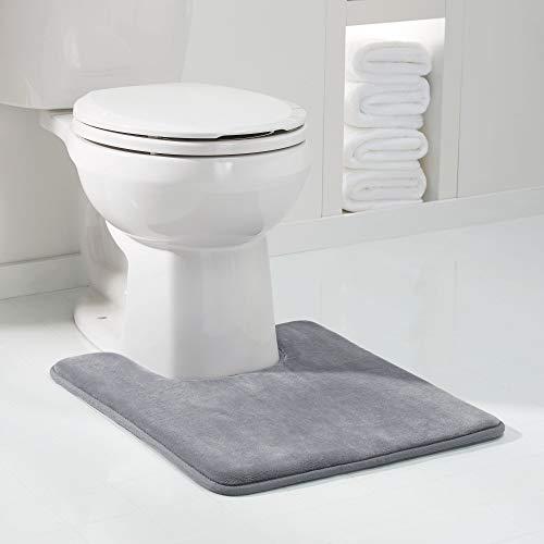 (Genteele Memory Foam Bath Mat Non Slip Absorbent Super Cozy Velvet Bathroom Rug Carpet, 20