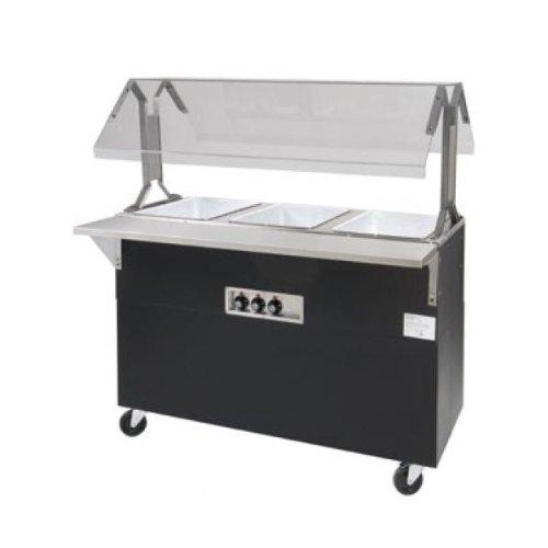 Supreme Metal Triumph Portable Hot Food Buffet Table B4-208/240-B-SB (Supreme Sb)