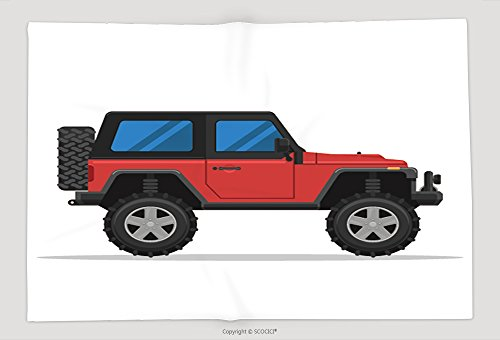 Supersoft Fleece Throw Blanket Off Road Vehicle Isolated On White Background Extreme Sports X Sports Utility Vehicle Suv 415793869 by vanfan